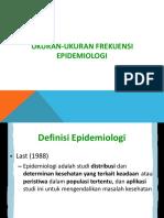 Ukuran Frekuensi Epidemiologi