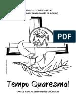 Livreto de Cantos - Quaresma 2018