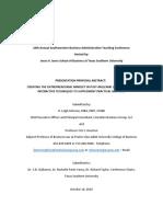 Creating the Entrepreneurial Mindset in Post-millenial Students u