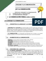 Tema 1 El Lenguaje y La Comunicacion