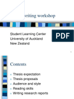 Thesis Writing Workshop[1]