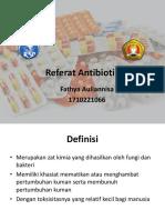 Referat Antibiotik