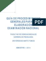 Guía de Procedimientos Generales Para La Elaboración Examinación Nacional 2014-1