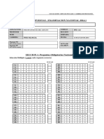Hoja Respuesta de Examinación Nacional Psi-114 Psicopatologia Del Adulto (2014-1)