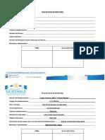 Formato de Registro de Firmas y Sello