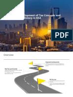 Development of Tax (Class 1)