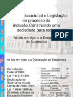 Politica Educacional e Legislacao No Processo Da Inclusao 1 1