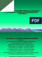 Historia Agraria en Guatemala