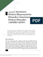 Capítulo 2 Adult Attention - Deficit Hyperactivity Disorder - Attention Deficit Disorder