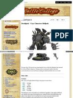 Battlecollege - Deathjack - Cryx Character Helljack