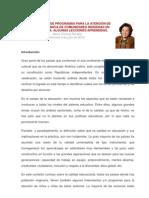 EL DESARROLLO DE PROGRAMAS PARA LA ATENCIÓN DE LA PRIMERA INFANCIA DE COMUNIDADES INDÍGENAS EN LATINOAMÉRIC1