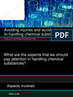 Avoiding Injuries and Accidents Due to Handling Chemical