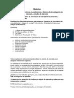 Sistema de Informacion de Mercadotecnia y Estudio de Mercado