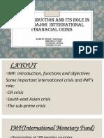 IMF Internatinal Finance Assignment