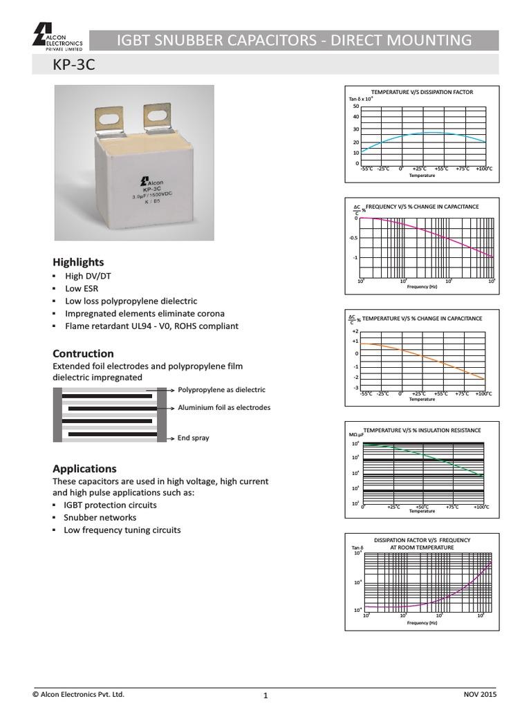 IGBT Snubber Capacitors Datasheet KP 3C (1) | Capacitor | Quantity