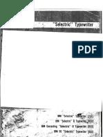 IBM Selectric Service Manual A