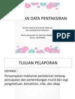 Bab 9 Pelaporan Data Pentaksiran
