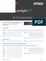 Scanlight at Pre Commissioning Check List 21lft33359