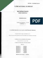 Brevet Maths 2016 Amerique Du Nord