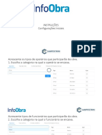 Instruções InfoObra _ Configurações Iniciais