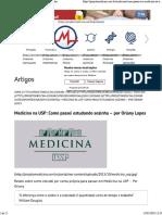 Medicina Na USP - Como Passei Estudando Sozinha – Por Oriany Lopes