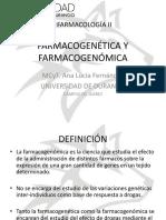 Farmacogenética y Farmacogenómica