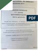 Brevet Maths 2017 Centres Etrangers