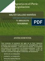 Política Agraria en El Perú