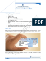 1.Permanent Account Number (Pan)