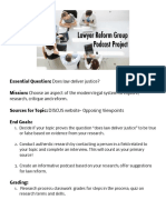 lawyer reform group project overview