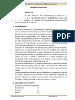 Memoria Descriptiva Av. Huacachina - Agosto 2017-1