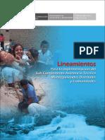 Lineamientos para la implementación del Sub Componente Asistencia Técnica Municipalidades Distritales y Comunidades