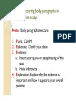 Argument Body Structure