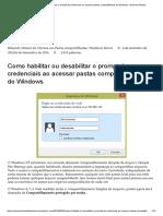 Como Habilitar Ou Desabilitar o Prompt de Credenciais Ao Acessar Pastas Compartilhadas Do Windows – Eduardo Mozart