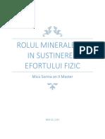 Rolul Mineralelor in Sustinerea Efortului