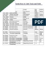 spring track schedule 2018
