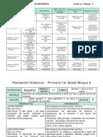 PLANEACIÓN DE PRIMER GRADO BIMESTRE 4, 2017-2018