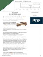 Definición de Biomateriales