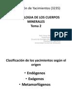 Morfologia de Los Cuerpos Minerales