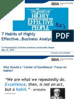 7 Habits of Highly Effective Business Analysts IIBA May 2015 (DRAFT)