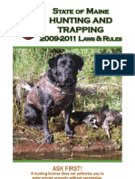 2009-2011 State of Maine Hunting and Trapping Rules
