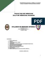 Silabo de Medicina Interna 2016
