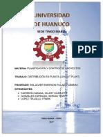 PLANIFICACION Y CONTROL DE PROYECTO