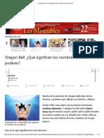 Dragon Ball_ ¿Qué Significan Los Nombres de Los Poderes