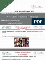 Antropología  Métodos ETNOGRAFICOS