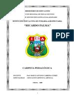 Carpeta Pedagogica Ricardo Palma
