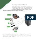 Principais Componentes de Um Computador