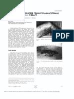 progression of multiple primary plasmacytomas under interferon alfa therapy