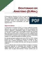 DOUTORADO EM MINISTÉRIO (D.MIN.)