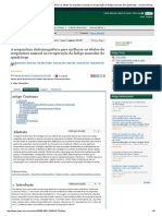 Artigo. a Acupuntura Eletromagnética Para Melhorar Os Efeitos Da Acupuntura Manual Na Recuperação Da Fadiga Muscular Do Quadríceps